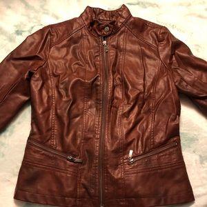 Bernardo Jackets & Coats - Bernardo Brown Leather Jacket